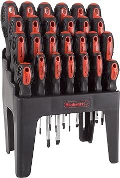 Performance Tool W1727 39-Piece Screwdriver Set with Rack
