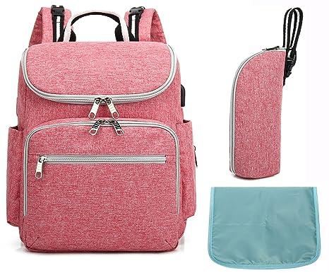 qutool bolsa de pañales mochila gran capacidad bebé pañal bolsa multifunción viaje bolso mochila para pañales ...