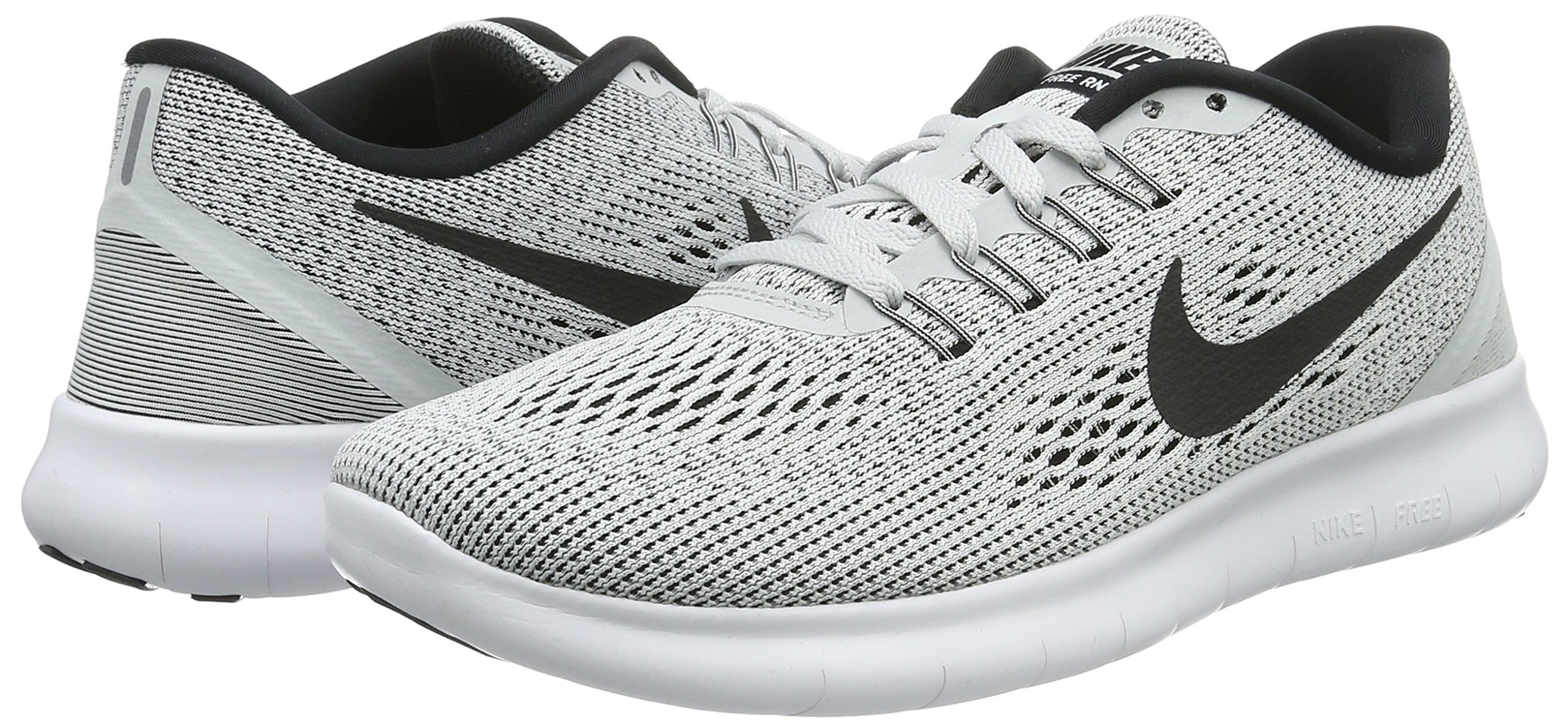 Nike Womens Free RN Running Shoe White/Black/Pure Platinum 6 by Nike (Image #6)