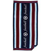 """Northpoint Double Jacquard Premium Football Beach Towel, 30 x 60"""", Striped Blue"""