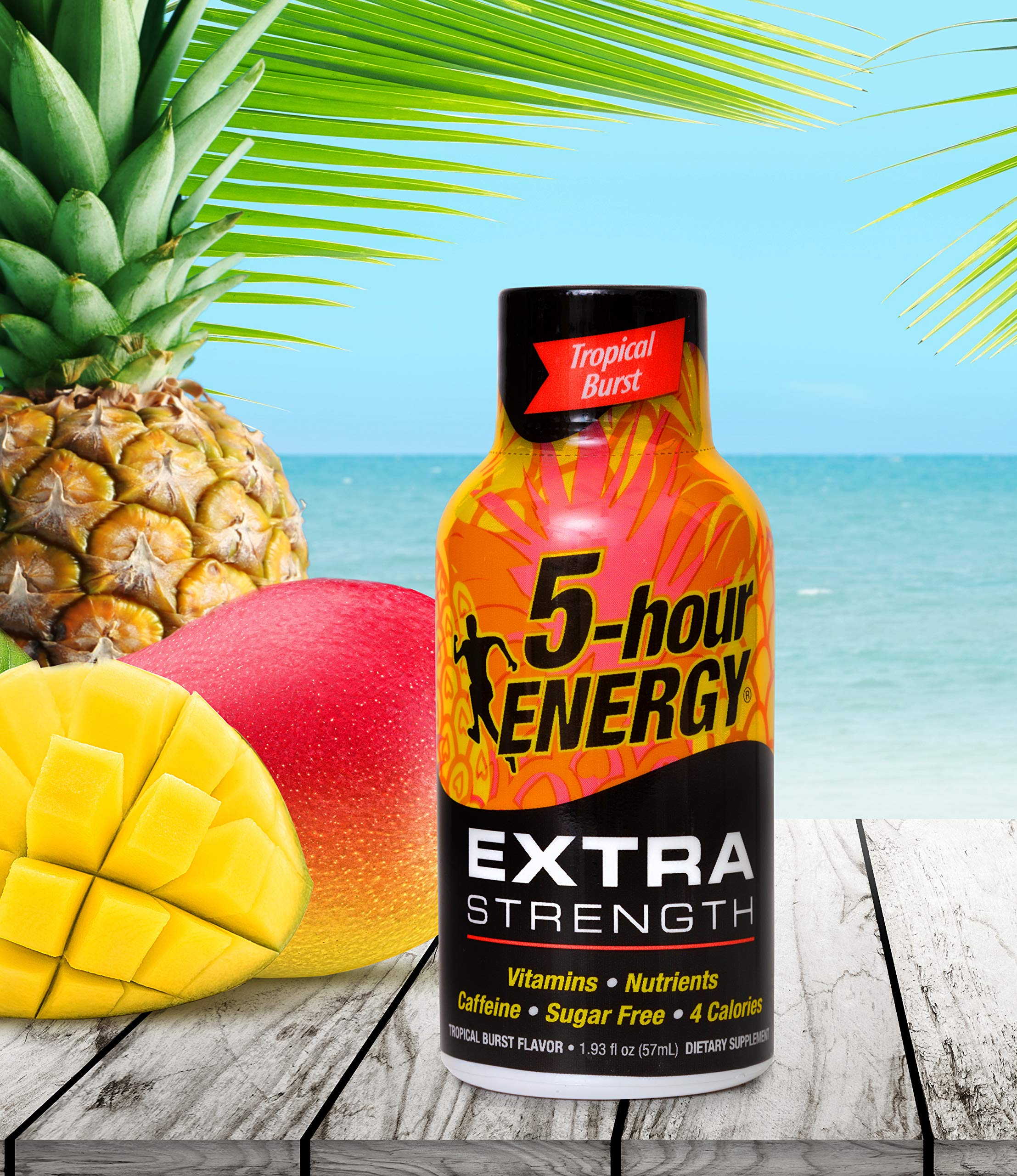5 Hour Energy Extra Strength, Tropical Burst (12 Count) 7-Eleven Exclusive by 5 Hour Energy