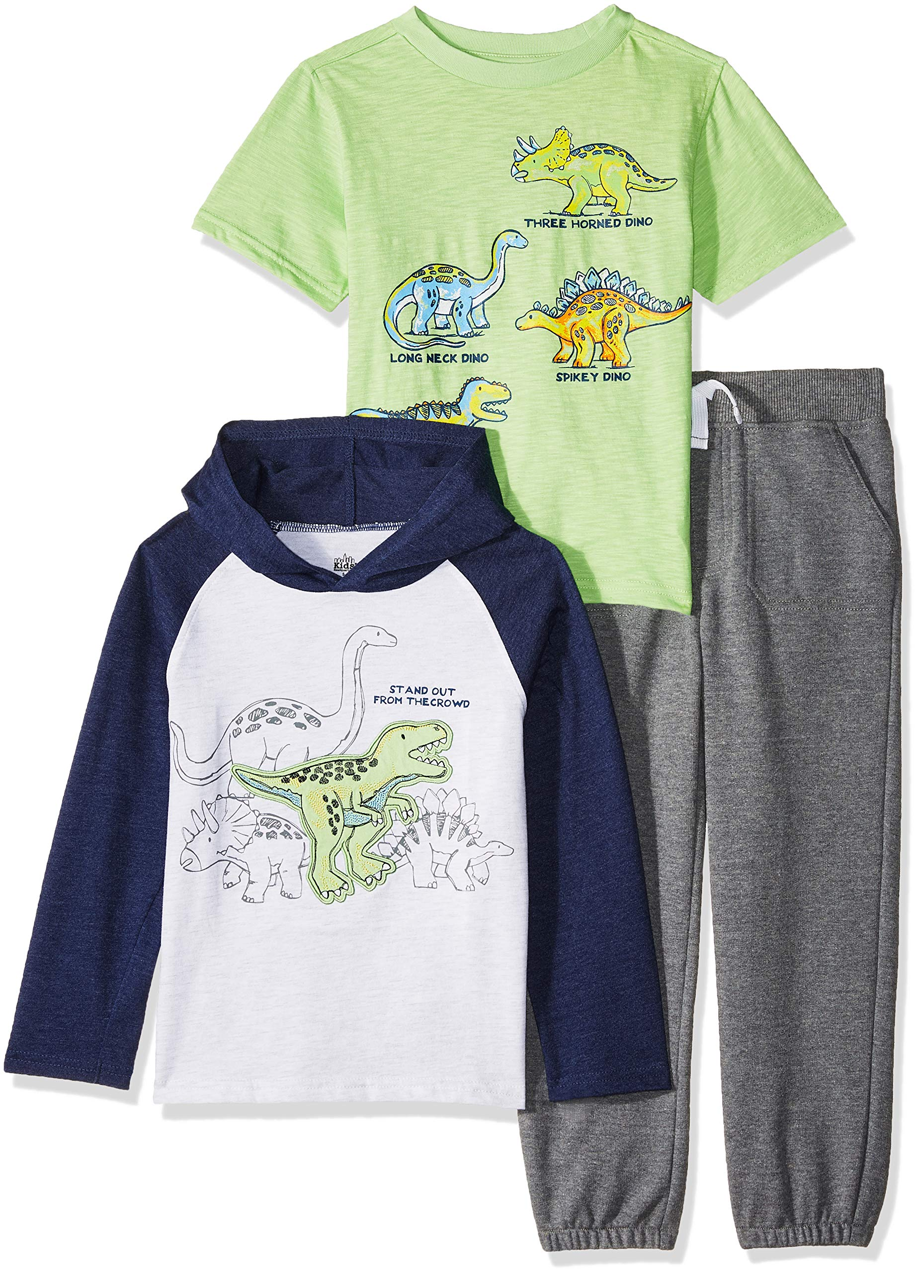 Kids Headquarters Boys' 3 Pieces Hooded Pants Set