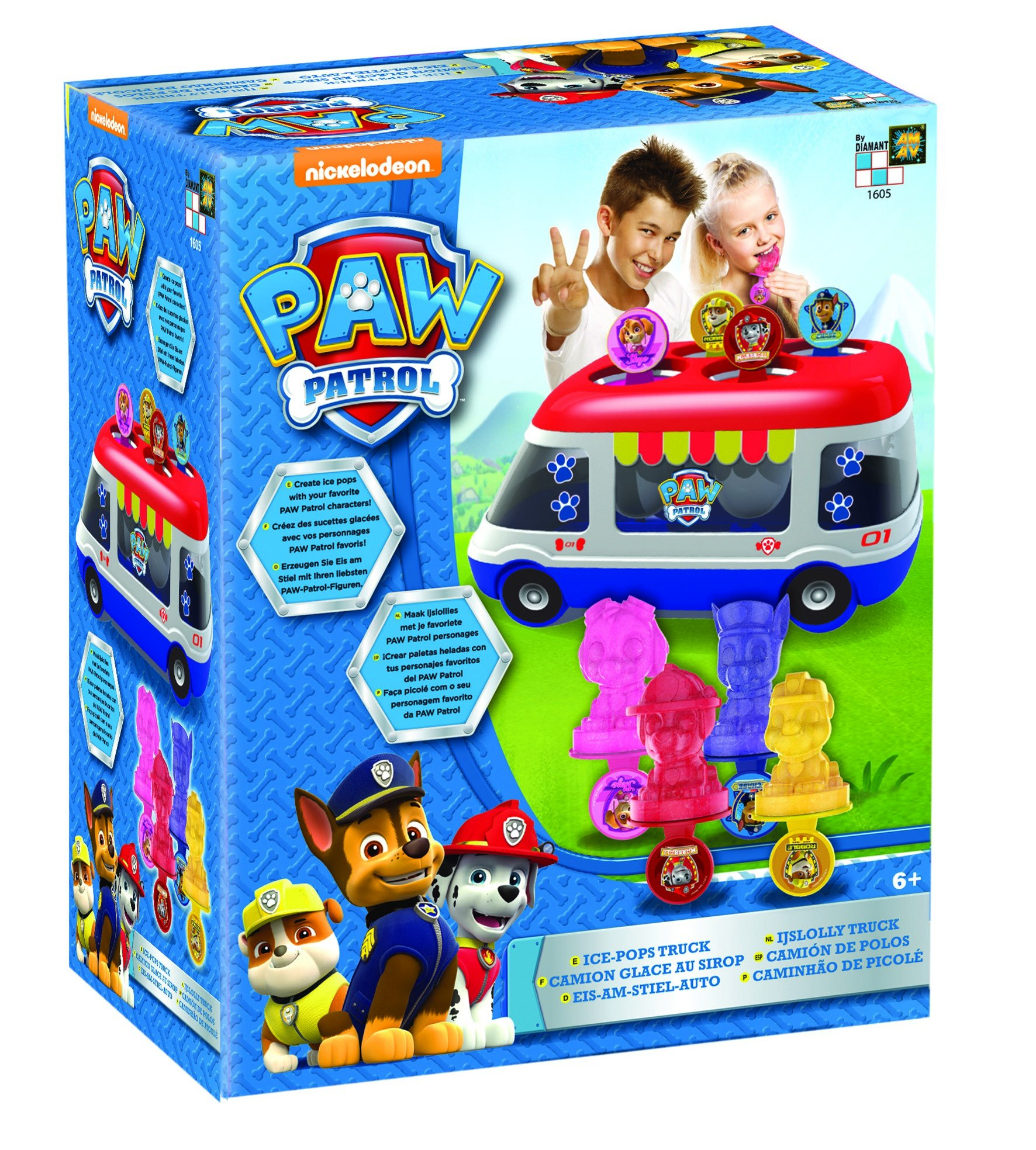 AMAV Paw Patrol Ice-Pops Truck Machine Kit for Kids - DIY Toy Make Your Own Paw Patrol Ice-Pops with Your Favorite Characters! by Nickelodeon (Image #3)