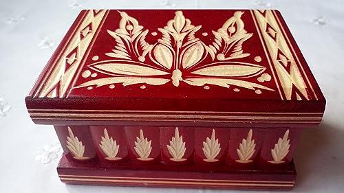 Nueva Rojo hermosa caja mágica, misteriosa caja, puzzle caja, caja ...