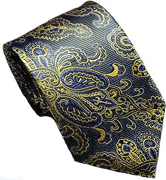 New Classic Paisley Tie Black Blue JACQUARD WOVEN Silk Men/'s Necktie