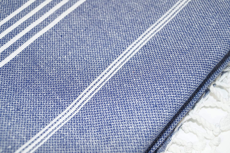 Bosporus Saunatuch Blau Pestemal SCN Premium Hamamtuch Strandtuch 100x180cm 100/% t/ürkische Baumwolle Oeko-TEX/® 100