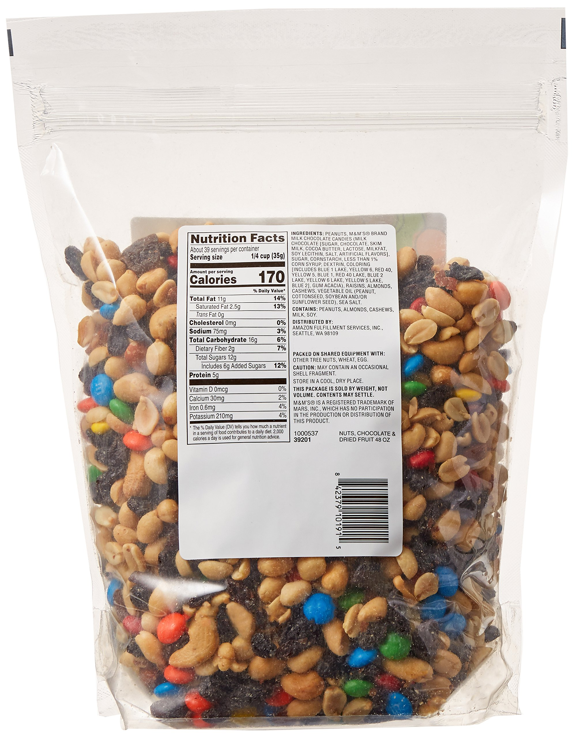 Amazon Brand - Happy Belly Amazon Brand Nuts, Chocolate & Dried Fruit Trail Mix, 48 ounce by Happy Belly (Image #5)