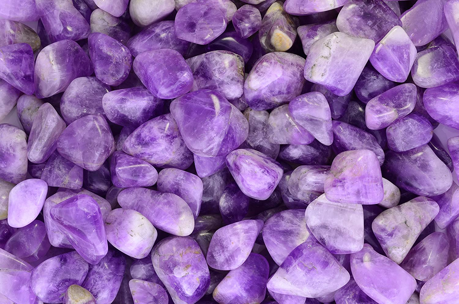 """Fantasia Materials: 1 lb Tumbled Deep Purple Amethyst Stones from Madagascar - Small - 0.75"""" to 1.25"""" Avg."""