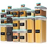 LARGEST Set of 40 Pc Food Storage Containers (20 Container Set) Shazo Airtight Dry Food Space Saver w Interchangeable…