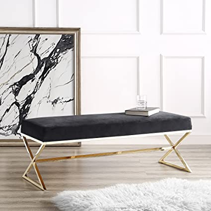 Astounding Amazon Com Inspired Home Aurora Black Velvet Upholstered Beatyapartments Chair Design Images Beatyapartmentscom