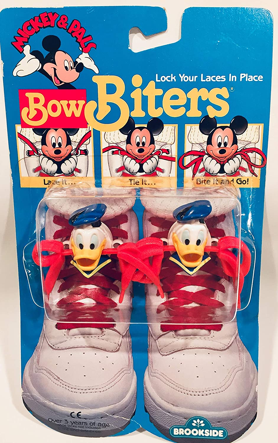 Mickey's Stuff for Kids BowBiters 1989 Donald Duck Lace Locker by Brookside