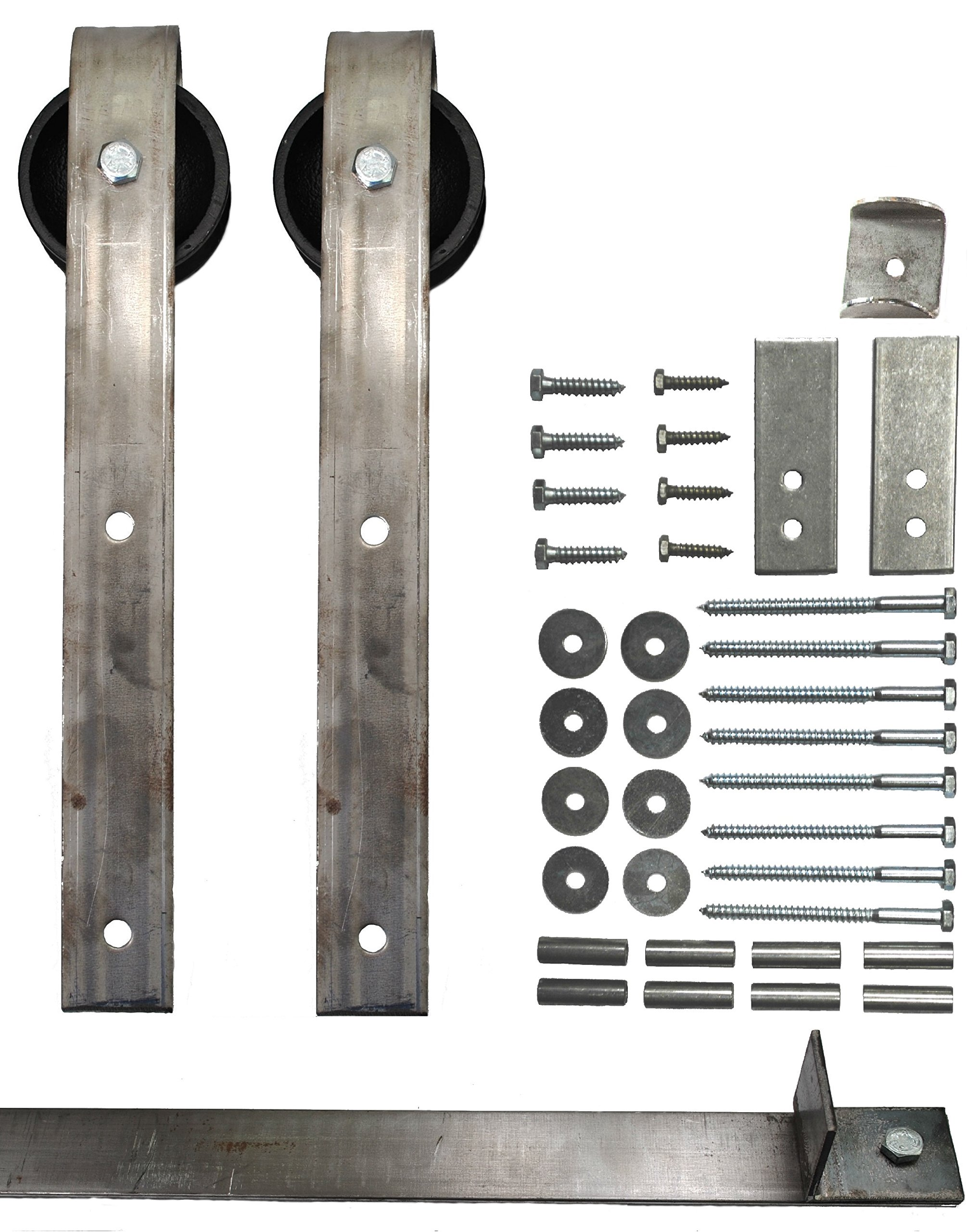Sliding Barn Door Hardware Kit with 5 Ft. Track Included - Made in USA