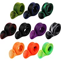 10Pcs Rod Sock Fishing Rod Sleeve Rod Cover Braided Mesh Rod Protector Pole Gloves Fishing Tools. Flat or Pointed End…