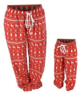 Unique Baby UB Boys Winter Print Matching Family Holiday Pajama Pants (7) a18bd1404
