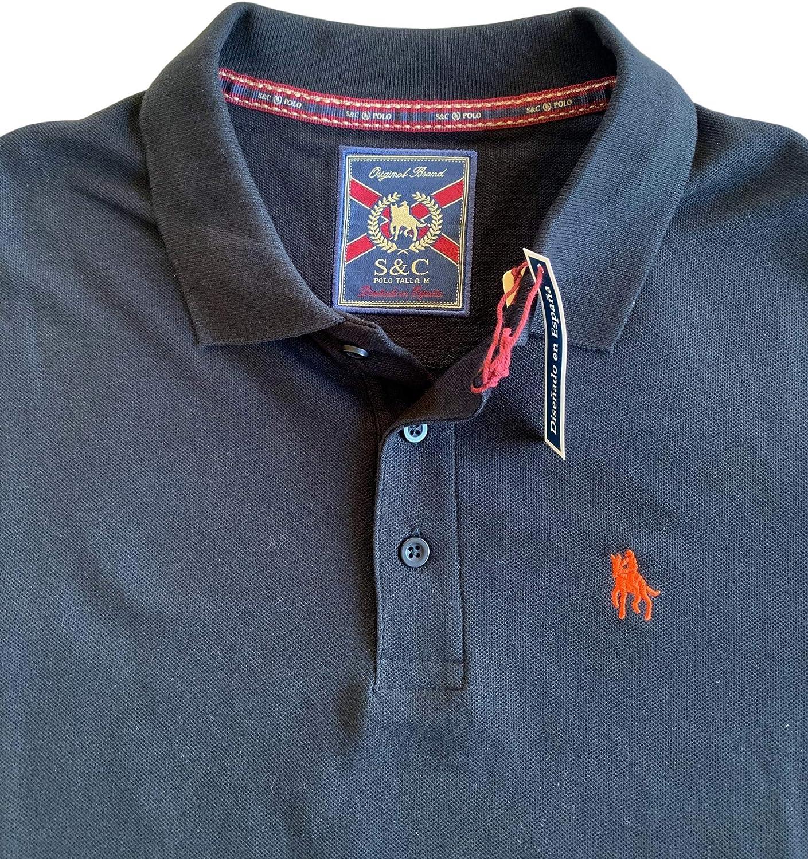 S/&C Mens Regular Fit Short Sleeve Polo Shirt