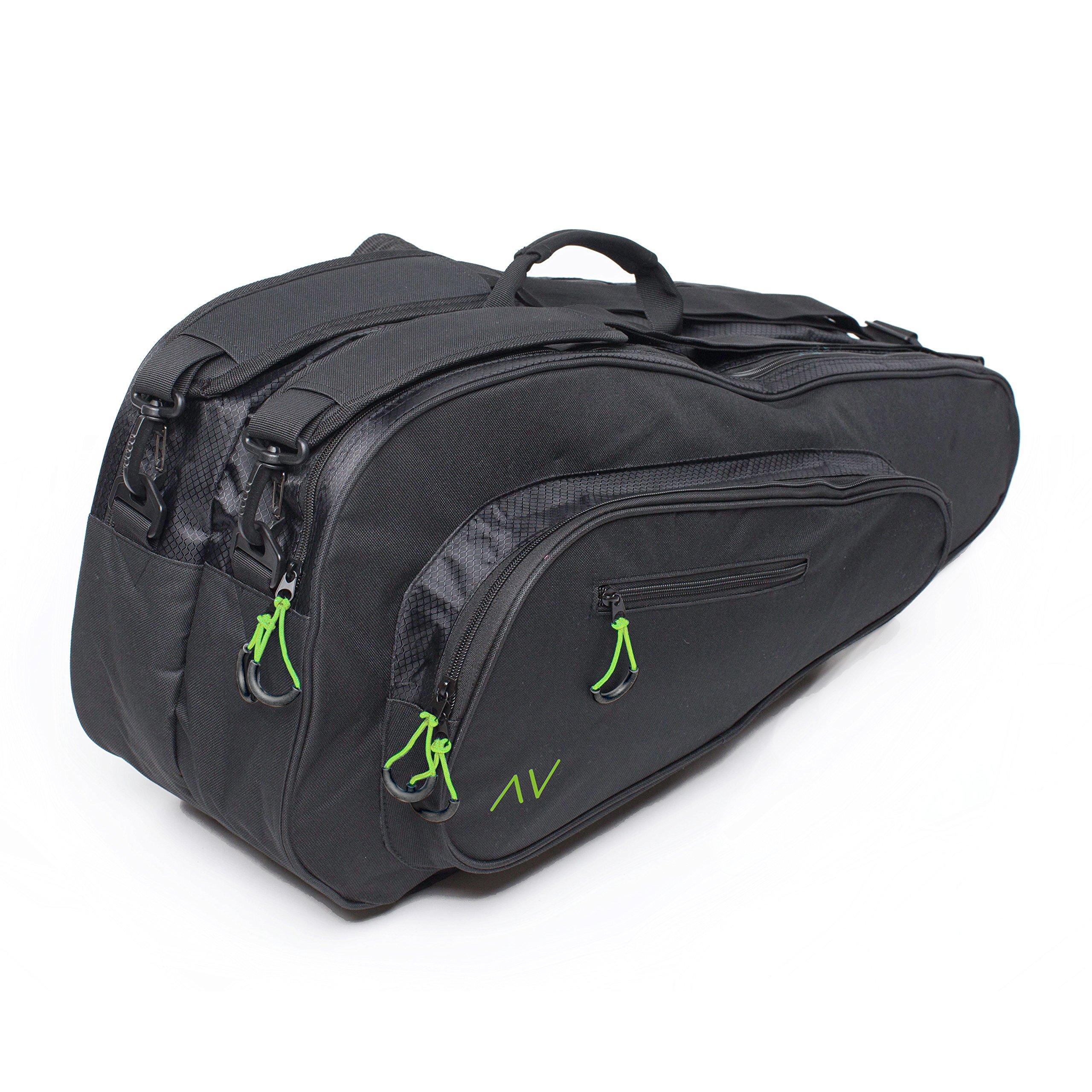 Gigavibe Premium 6R Tennis Bag in Black (Black Neon) 5b15de5b29d45