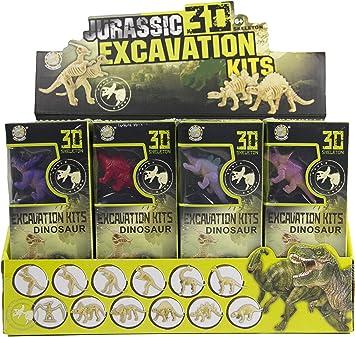 IMEX Dinosaurs Esqueleto 3D Dino Fossil Excavación Ciencia Kits 12 Pack Surtido Dinos Stem: Amazon.es: Juguetes y juegos