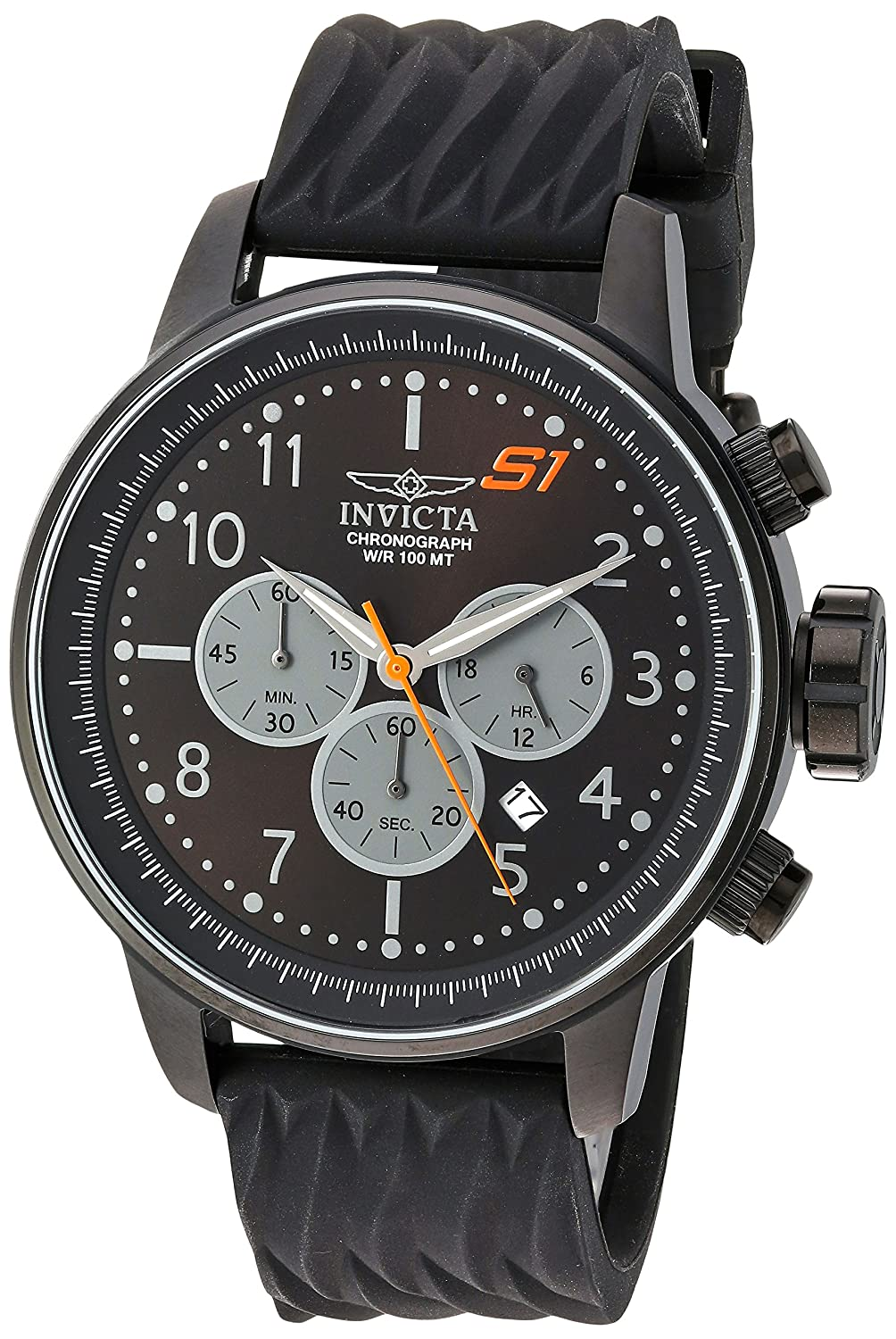 Amazon.com  Invicta Men s  S1 Rally  Quartz Stainless Steel and Silicone  Casual Watch bd9cdae0fc7