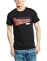 Plastic Head Men's Thunderbirds Logo Banded Collar Short Sleeve T-Shirt
