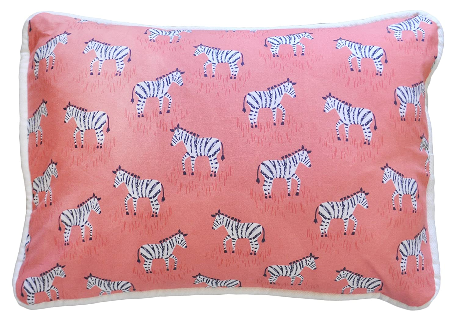 Amazon.com : Cojín decorativo, Zebra Parade en Coral : Baby