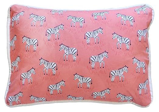 Amazon.com : Cojín decorativo, Zebra Parade en Coral : Baby