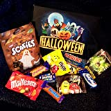 Halloween Treats Box - New for 2018-10 Different Treats - Smarties Scaries, Malteasers, M&M's, Haribo, Ghostbusters Popping Candy, Milky Way, Crunchie and Fudge - by Moreton Gifts