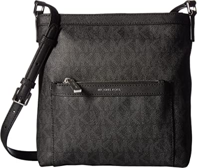 814a617eb51d5e ... best price michael michael kors womens morgan medium messenger pvc logo  black crossbody bag e0994 2b7c4 ...