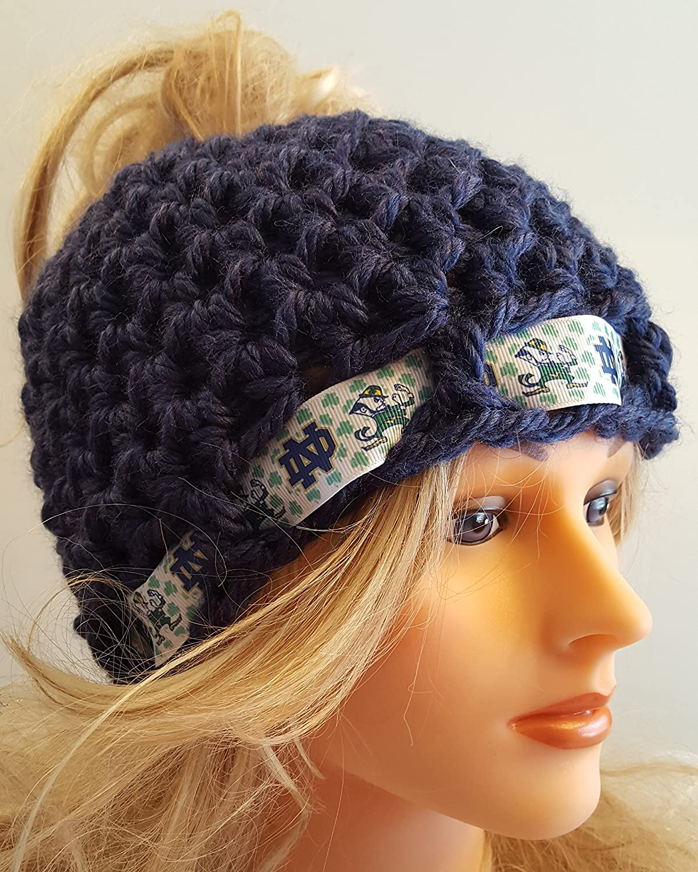 b8e295210c0 Amazon.com  Crochet Notre Dame bun hat. Made by Bead Gs. Ladies Size.   Handmade