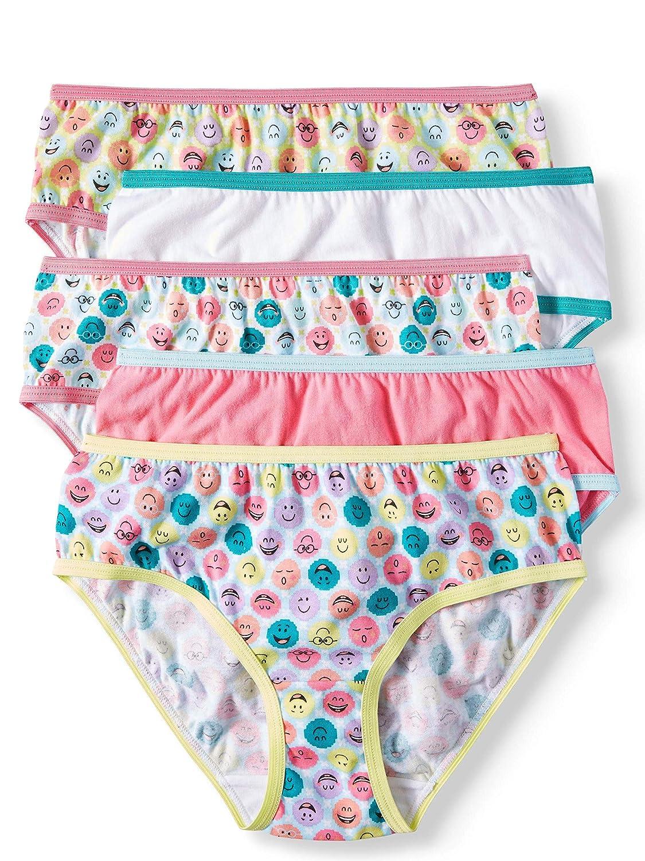 Girls 5 Pack Cotton Briefs Tag-Free Panties Underwear