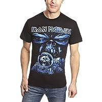 Iron Maiden T Shirt Final Frontier Blue Album Spaceman Band Logo Official Mens