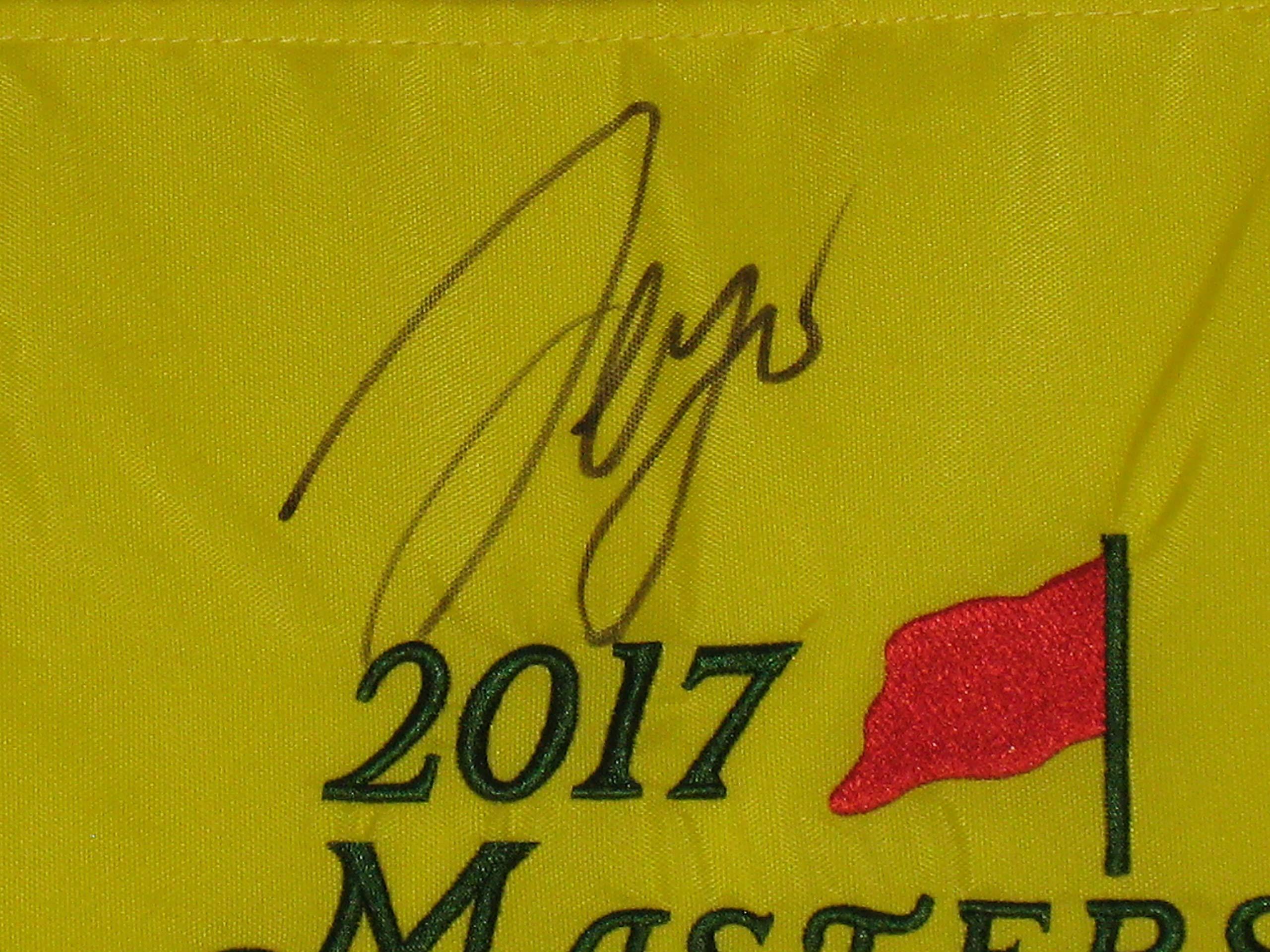 Sergio Garcia PGA signed 2017 Masters Pin Flag Winner JSA COA
