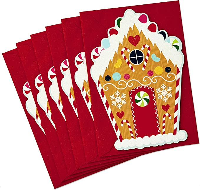Rustic Wreath 699XXH3184 Hallmark Christmas Cards Assortment 6 ...
