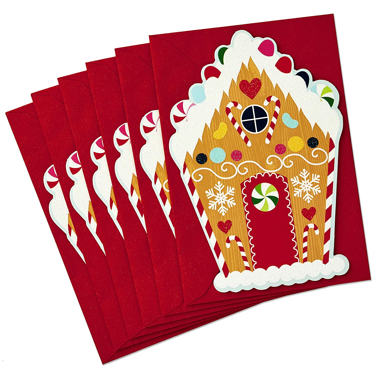Hallmark Christmas Cards Pack, Gingerbread House (6 with Envelopes ...