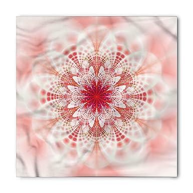 0d4082c63 Lunarable Pale Pink Bandana, Kaleidoscopic Psychedelic Fractal Fantasy  Lotus Mandala Inspired Digital Art, Printed