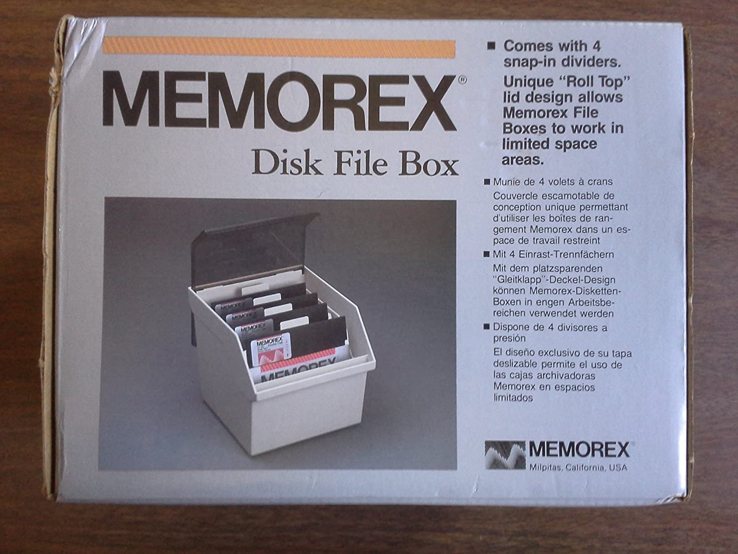 Amazon.com: Memorex Floppy Disk File Box (5) 5 1/4, 5.25 NIB: Computers & Accessories