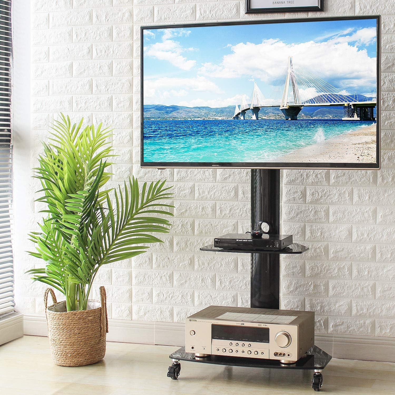 RFIVER Soporte TV Móvil de Suelo con Ruedas para Television de 27 a 55 Pulgadas con Altura Ajustable y Giratorio TF9001: Amazon.es: Electrónica