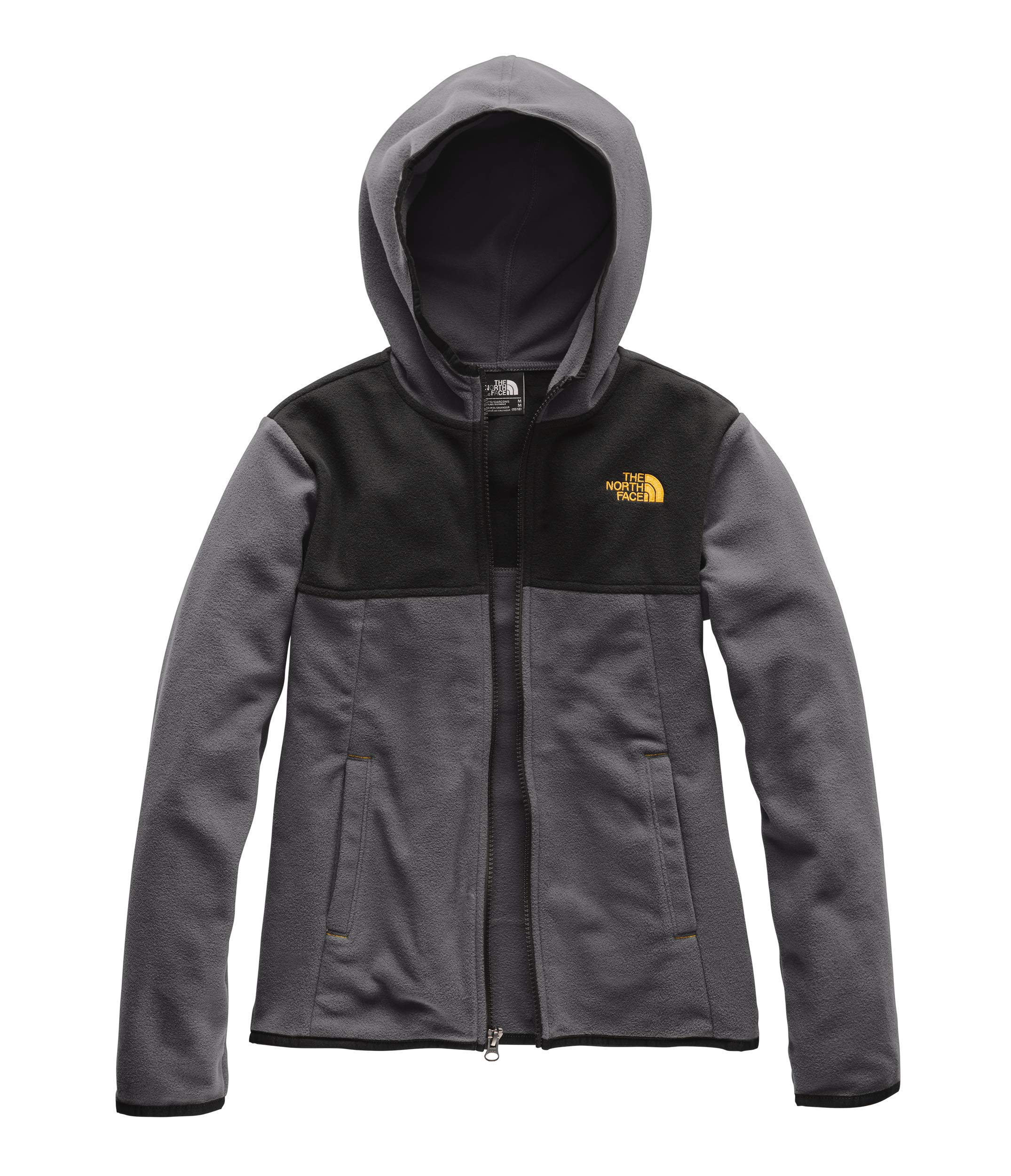 The North Face Boys' Glacier Full Zip Hoodie, Graphite Grey, Small