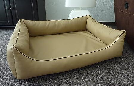 orthopae ortopédica Perros sofá cama para perros piel sintética ortope Dico cama para perros Manufaktur 115 cm x 95 cm con colchón de espuma viscoelástica: ...