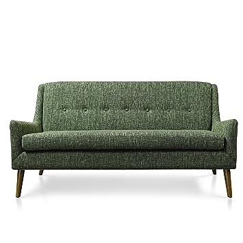 Amazon.com: Gingko muebles para el hogar Rex Loveseat, Verde ...