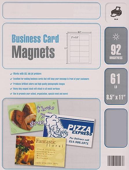 Amazon 600 Blank White Magnetic Business Cards Inkjet