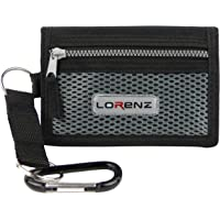 Lorenz Mens Boys Sports Wallet Canvas Belt Clip Trifold in 3 Colours