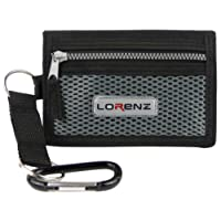 Lorenz Mens Boys Sports Wallet Canvas Belt Clip Trifold in 3 Colours