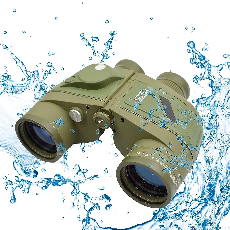 TwoD 10 x 50防水双眼鏡with Rangefinder &照らさコンパス、ポーチOutdoors、ハンティング、ハイキング、トレッキング B01NAGUCLZ