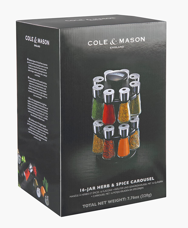 483e7f68aa7 Cole   Mason 16 Jar Hudson Filled Herb and Spice Carousel