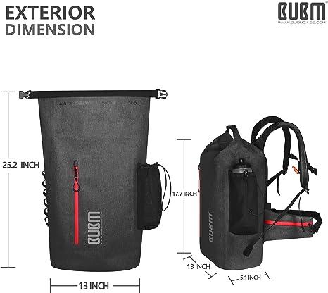 Mochila Impermeable de Viaje Premium Bolsa Estanca 20~35L Impermeable Seca PVC Rafting//Kayak//Senderismo//Esqu/í//Pesca//Escalada//Camping 500D