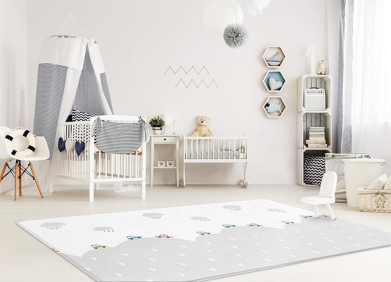 Parklon Pure Soft Baby Play Mat Medium, Traveling Mint Stripe