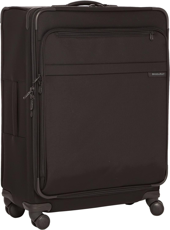 Briggs Riley Baseline Luggage Baseline Expandable Durable Spinner Bag, Black, Large