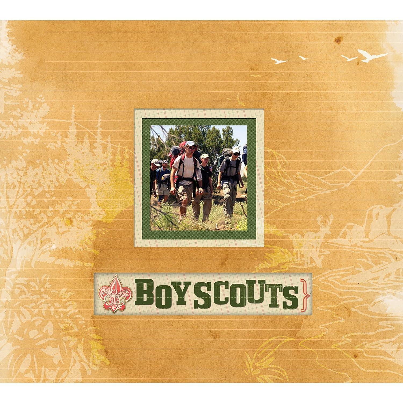 K&Company Boy Scout Frame A Name 12-by-12-Inch Scrapbook EKS 30-585560