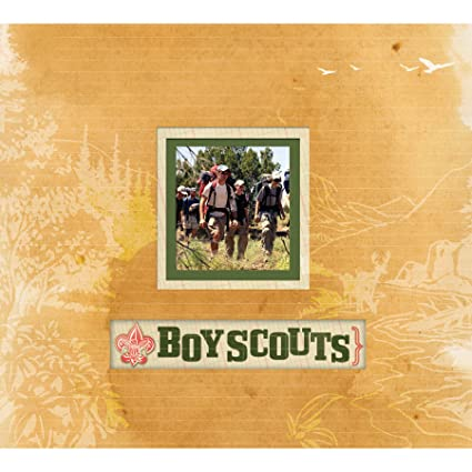 Amazon Kcompany Boy Scout Frame A Name 12 By 12 Inch Scrapbook