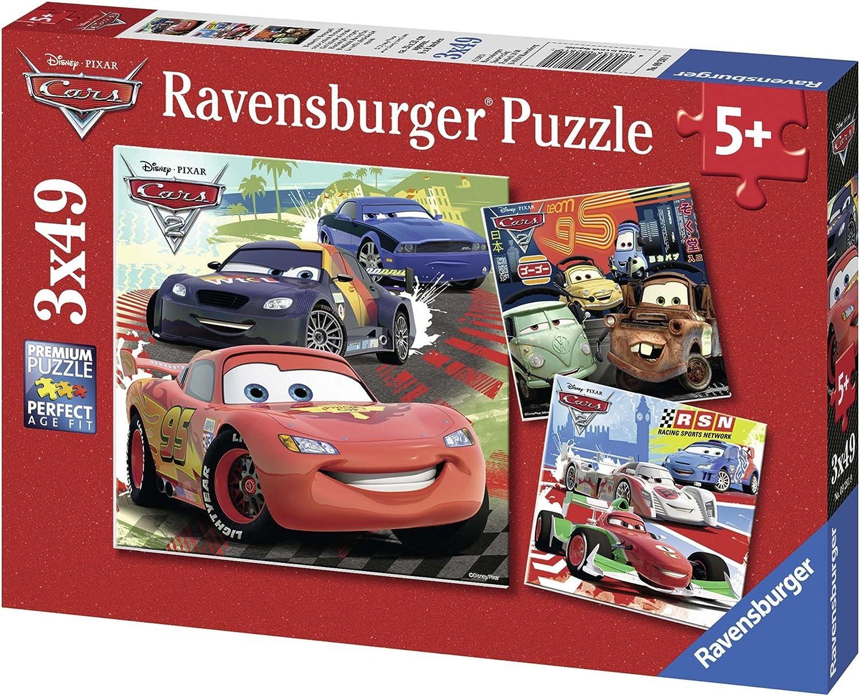 Cars - Puzzle, Pack de 3 x 49 piezas (Ravensburger 09281): Amazon.es: Juguetes y juegos